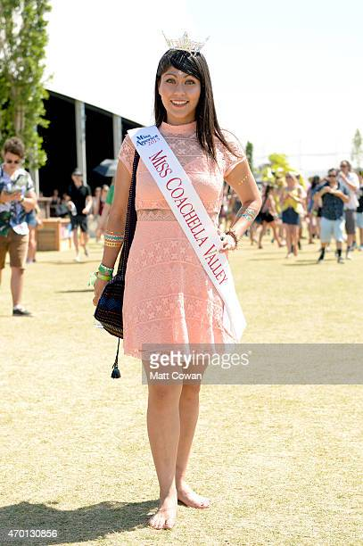 Miss Coachella Valley 2015 Tanya Nunez attends day 1 of the 2015 Coachella Valley Music And Arts Festival at The Empire Polo Club on April 17 2015 in...