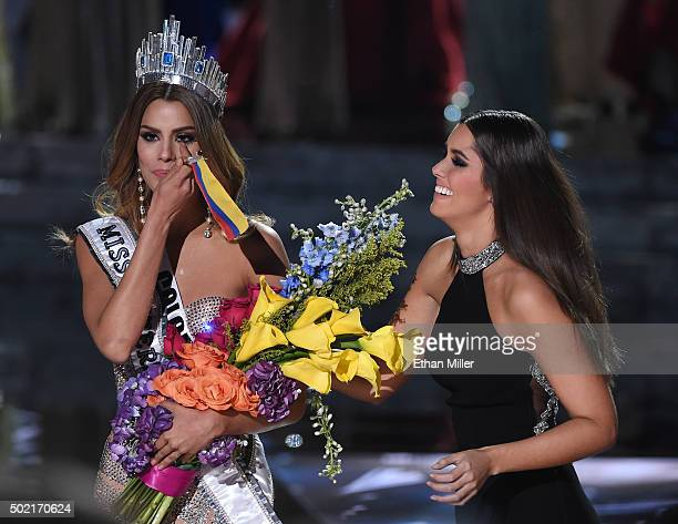 Miss Colombia 2015 Ariadna Gutierrez Arevalo is crowned the new Miss Universe by Miss Universe 2014 Paulina Vega after host Steve Harvey mistakenly...