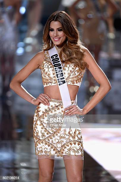 Miss Colombia 2015 Ariadna Gutierrez Arevalo is named a top 15 finalist during the 2015 Miss Universe Pageant at The Axis at Planet Hollywood Resort...