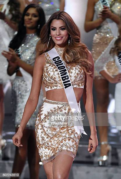 Miss Colombia 2015 Ariadna Gutierrez Arevalo is named a top 15 finalist the 2015 Miss Universe Pageant at The Axis at Planet Hollywood Resort Casino...