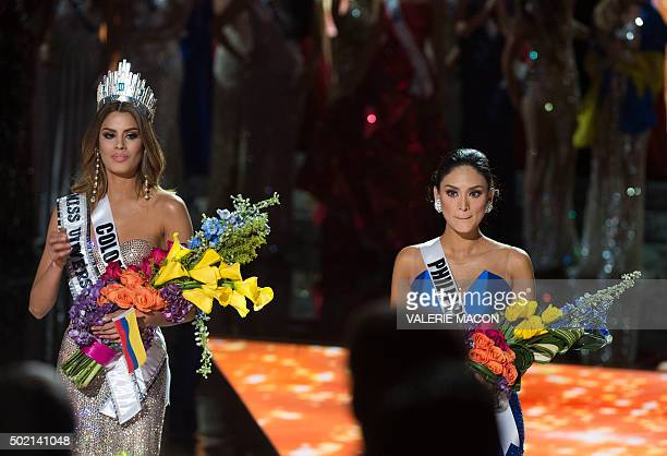 Miss Colombia 2015 Ariadna Gutierrez is mistakenly named Miss Universe 2015 instead of first runnerup during the 2015 during the 2015 MISS UNIVERSE...