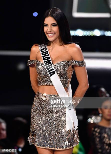 Miss Colombia 2017 Laura Gonzalez is named a top 16 finalist during the 2017 Miss Universe Pageant at The Axis at Planet Hollywood Resort Casino on...