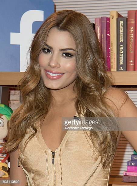 Miss Colombia Ariadna Gutierrez is seen on the set of 'Despierta America' at Univision Studios on January 15 2016 in Miami Florida