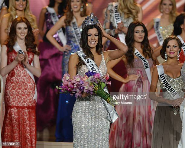 Miss Colombia Paulina Vega is crowned Miss Universe 2014 during The 63rd Annual Miss Universe Pageant at Florida International University on January...