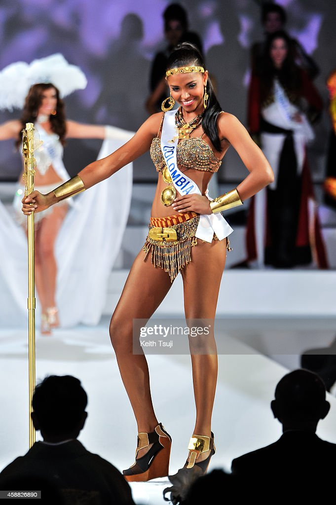 Miss Columbia Zuleika Suarez competes during The 54th Miss International Beauty Pageant 2014 at Grand Prince Hotel New Takanawa on November 11, 2014 in Tokyo, Japan.