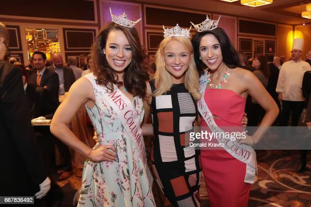 Miss Columbus Day 2017 Olivia Michael Keynote Speaker and Honoree Miss America 2017 Savvy Shields and Miss Atlantic County 2017 Jacqeline Algarra...