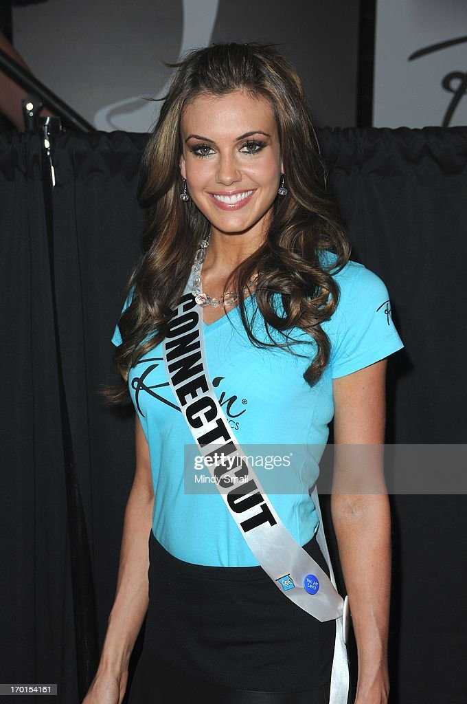 Miss Connecticut USA Erin Brady appears at the D Las Vegas for a meet and greet and autograph signing on June 7, 2013 in Las Vegas, Nevada.