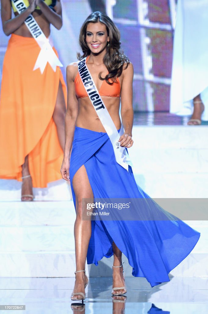 Miss Connecticut USA Erin Brady is named a top 10 finalist after competing in the swimsuit competition during the 2013 Miss USA pageant at PH Live at Planet Hollywood Resort & Casino on June 16, 2013 in Las Vegas, Nevada. Brady went on to be crowned the new Miss USA