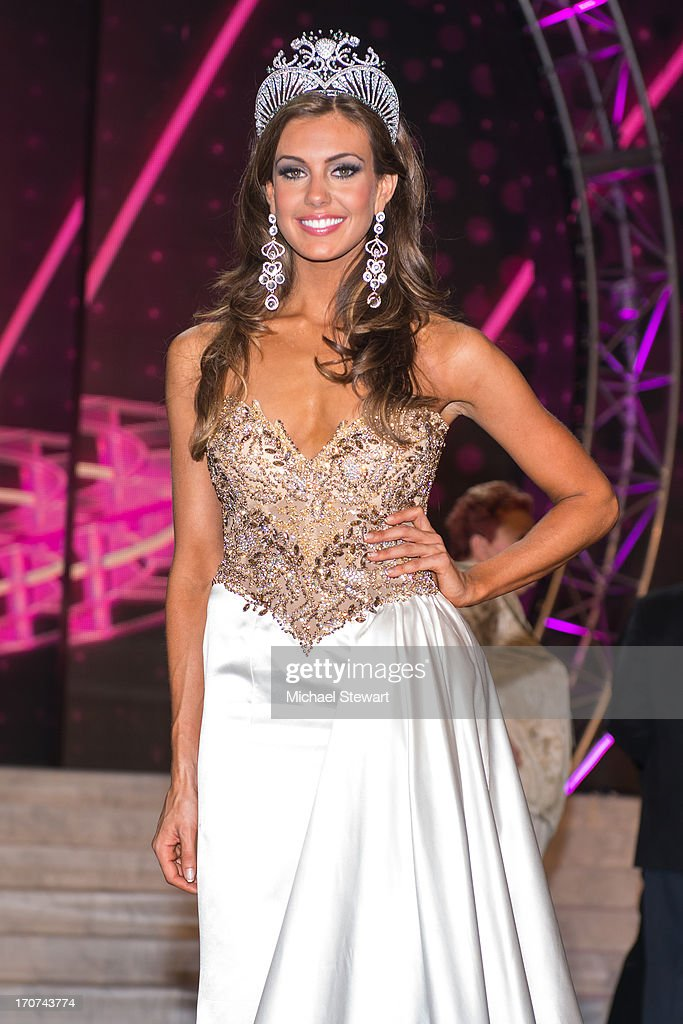 Miss Connecticut USA Erin Brady poses onstage after winning the 2013 Miss USA pageant at PH Live at Planet Hollywood Resort & Casino on June 16, 2013 in Las Vegas, Nevada.