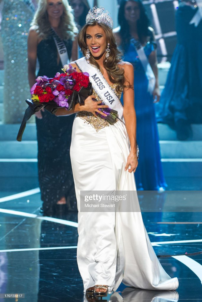 Miss Connecticut USA Erin Brady reacts after being crowned Miss USA during the 2013 Miss USA pageant at PH Live at Planet Hollywood Resort & Casino on June 16, 2013 in Las Vegas, Nevada