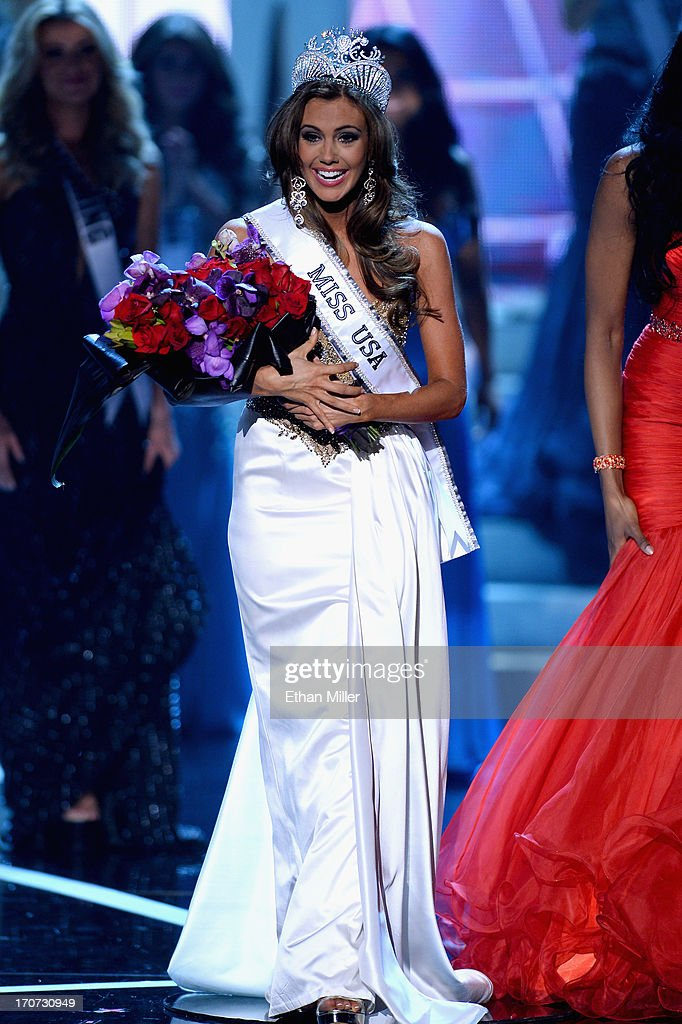 Miss Connecticut USA Erin Brady reacts after being crowned Miss USA during the 2013 Miss USA pageant at PH Live at Planet Hollywood Resort & Casino on June 16, 2013 in Las Vegas, Nevada.