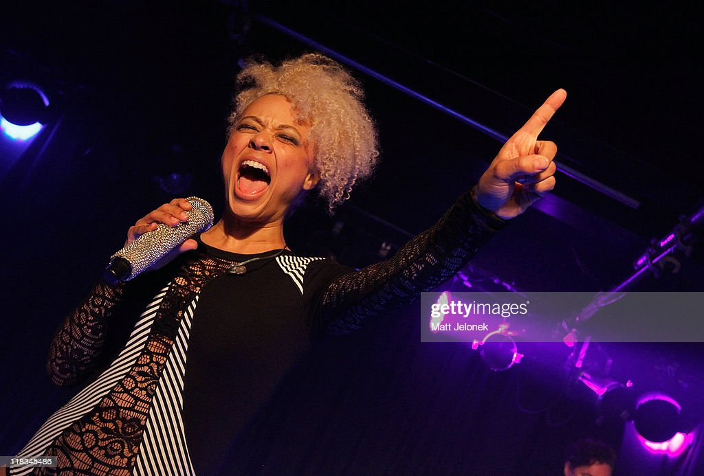 Miss Connie of Sneaky Sound System performs on stage at the Bakery on July 6 2011 in Perth Australia