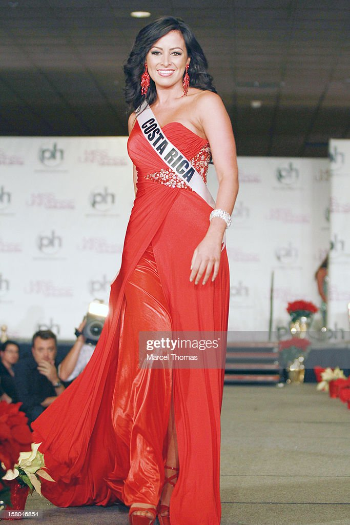 Miss Costa Rica Nazareth Cascante walks the runway as part of the 2012 Miss Universe Pageant's Official Welcome Event at Planet Hollywood Resort and Casino on December 6, 2012 in Las Vegas, Nevada.