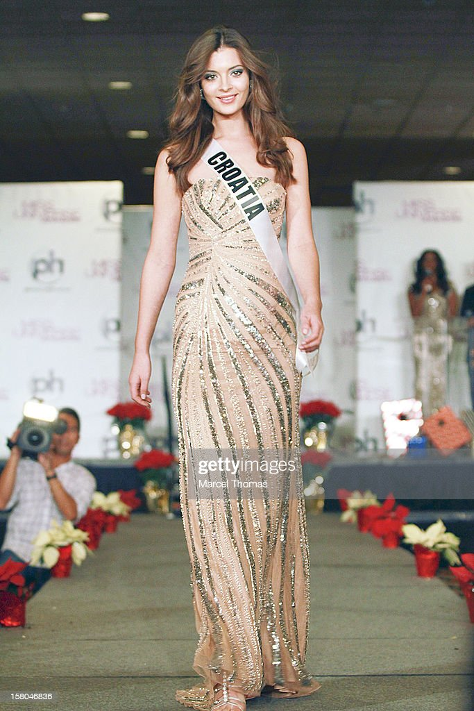 Miss Croatia Elizabeta Burg walks the runway as part of the 2012 Miss Universe Pageant's Official Welcome Event at Planet Hollywood Resort and Casino on December 6, 2012 in Las Vegas, Nevada.
