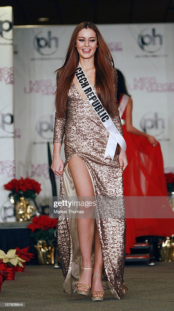 Miss Czech Republic Tereza Chlebovska walks the runway as part of the 2012 Miss Universe Pageant's official welcome event at Planet Hollywood Resort andCasino on December 6, 2012 in Las Vegas, Nevada.