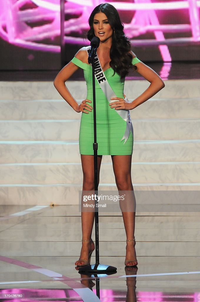 Miss Delaware USA Rachel Baiocco appears at the 2013 Miss USA preliminary competition at PH Live at Planet Hollywood Resort & Casino on June 12, 2013 in Las Vegas, Nevada.