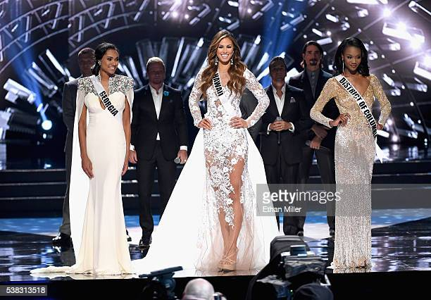 Miss District of Columbia USA 2016 Deshauna Barber Miss Hawaii USA 2016 Chelsea Hardin and Miss Georgia USA 2016 Emanii Davis are named the top three...