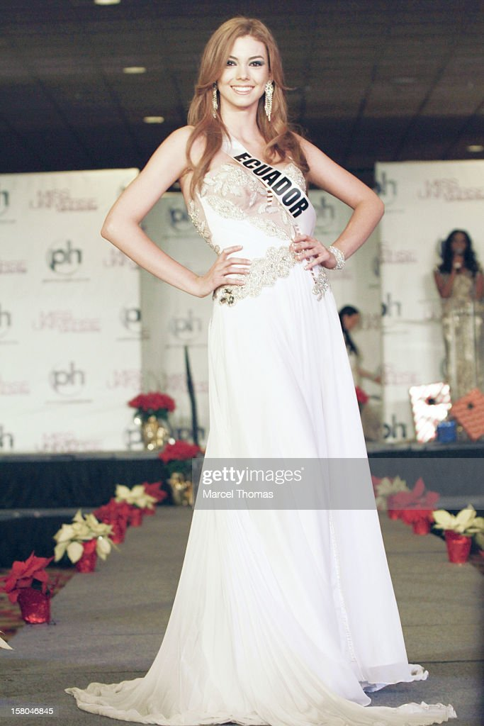 Miss Ecuador Carolina Andrea Aguirre Perez walks the runway as part of the 2012 Miss Universe Pageant's Official Welcome Event at Planet Hollywood Resort and Casino on December 6, 2012 in Las Vegas, Nevada.