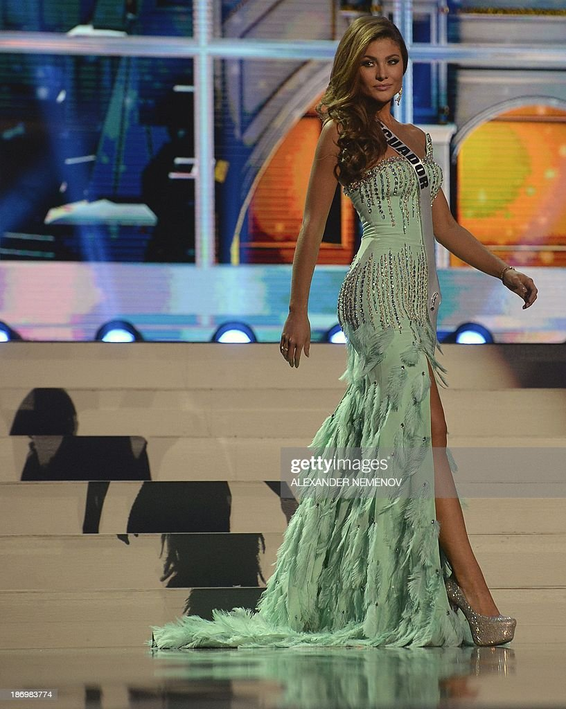 Miss Ecuador Constanza Baez competes in the 2013 Miss Universe preliminary competition in Moscow on November 5, 2013. Miss Universe 2013 will be crowned at the pageant final show on November 9.