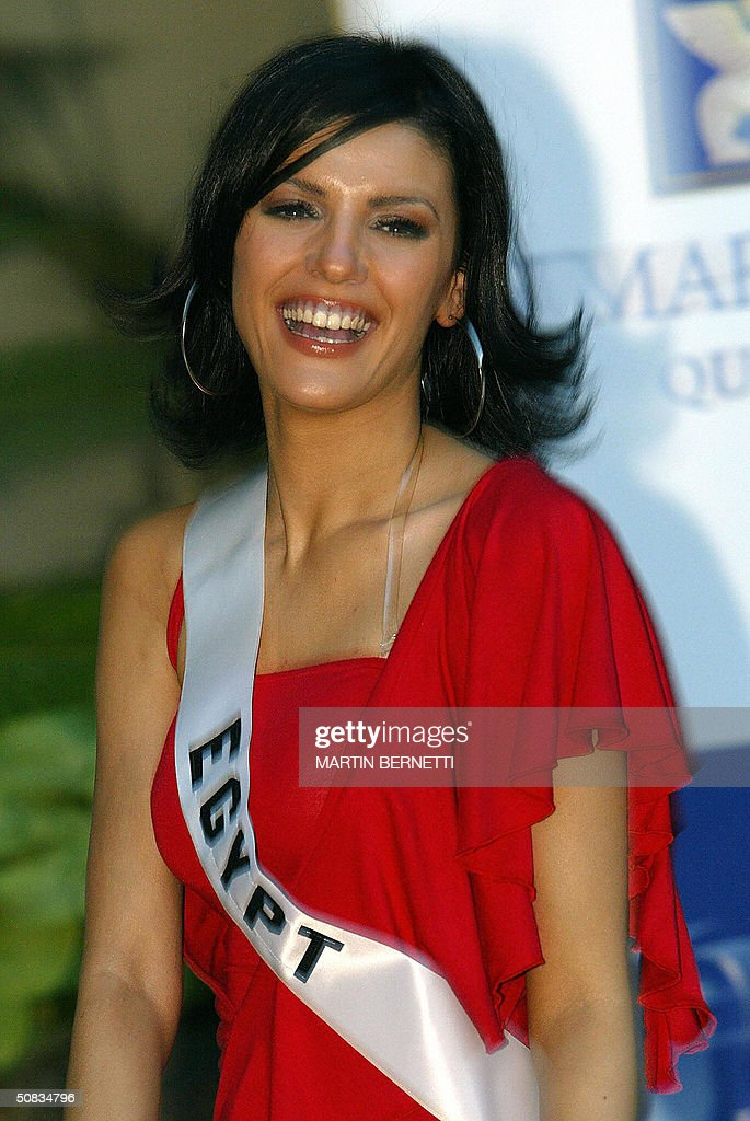 Miss Egypt Heba El-Sisy poses to photographers 13 May 2004 in Quito. The Miss Universe 2004 contest will take place 01 June 2004. AFP PHOTO/Martin BERNETTI
