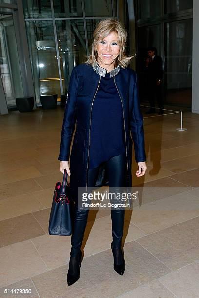 Miss Emmanuel Macron attends the Louis Vuitton show as part of the Paris Fashion Week Womenswear Fall/Winter 2016/2017 Held at Louis Vuitton...