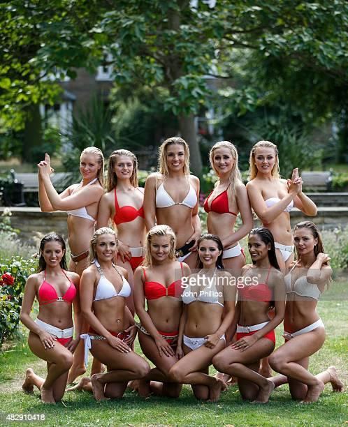 Miss England contestants Briony Mai Reynolds Charlotte White Francessca Hall Lucy Kent Sophie Smith Kirshna Solanki Emily Sanders Jennifer McSween...
