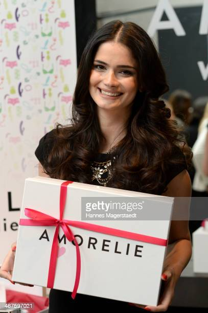 Miss Europe Shermine Shahrivar attends Amorelie PopUp Store Opening on February 7 2014 in Munich Germany