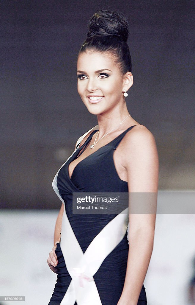 Miss Finland Sara Yasmina Chafak walks the runway as part of the 2012 Miss Universe Pageant's official welcome event at Planet Hollywood Resort andCasino on December 6, 2012 in Las Vegas, Nevada.