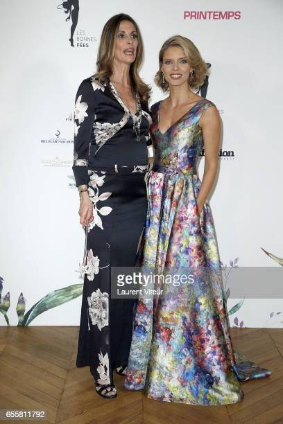 Miss France 1998 Sophie Thalmann and Miss France 2002 Sylvie Tellier attends 'Les Bonnes Fees' Charity Gala at Hotel D'Evreux on March 20 2017 in...