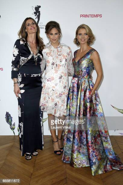 Miss France 1998 Sophie Thalmann TV Presenter Ophelie Meunier and Miss France 2002 Sylvie Tellier attends 'Les Bonnes Fees' Charity Gala at Hotel...