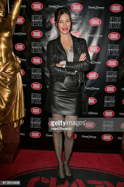 Miss France 1999 Mareva Galanter attends the 'Chantal Thomass Dessous Dessus' show Premiere at Le Crazy Horse on October 5 2016 in Paris France