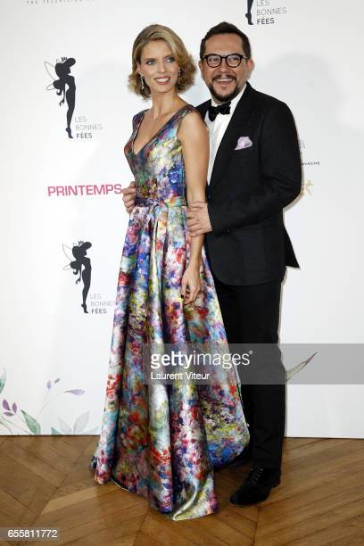 Miss France 2002 and Designer Nicolas Fafiotte attend 'Les Bonnes Fees' Charity Gala at Hotel D'Evreux on March 20 2017 in Paris France