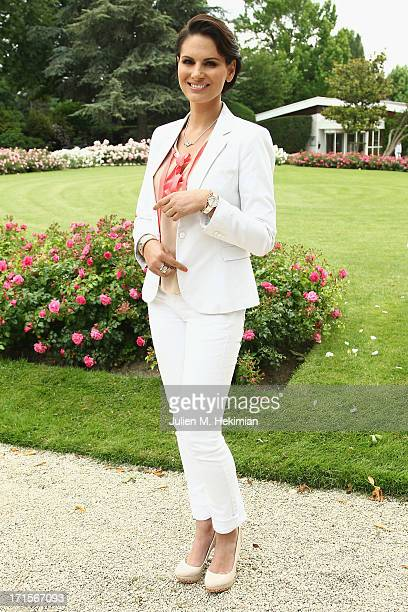 Miss France 2004 Laetitia Bleger attends the Charriol Ladies Polo Cup for the benefit of Rose Magazine at Polo Club de Paris on June 26 2013 in Paris...