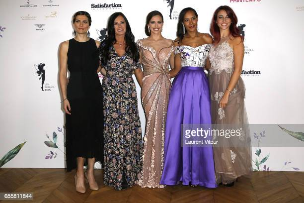 Miss France 2004 Laetitia Bleger Miss France 1987 Nathalie Marquay Miss France 2013 Marine Lorphelin Miss France 2003 Corinne Coman and Miss France...