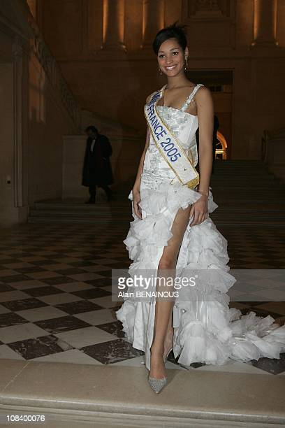 Miss France 2005 Cindy Fabre in Versailles France on January 31 2005