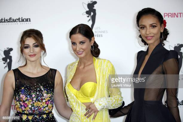 Miss France 2007 Rachel LegrainTrapani Miss France 2010 Malika Menard and Miss France 2014 Flora Coquerel attends 'Les Bonnes Fees' Charity Gala at...