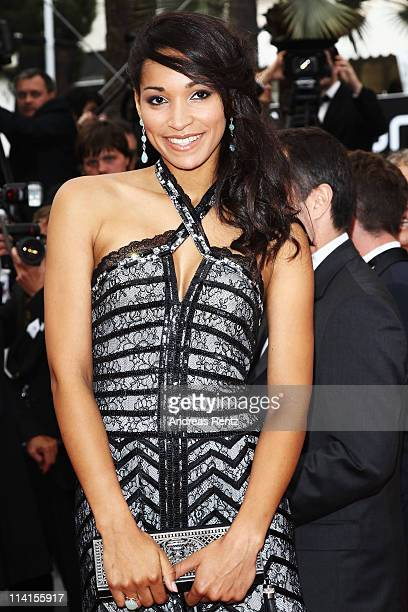 Miss France 2009 Cindy Fabre attends the 'Habemus Papam' premiere at the Palais des Festivals during the 64th Cannes Film Festival on May 13 2011 in...