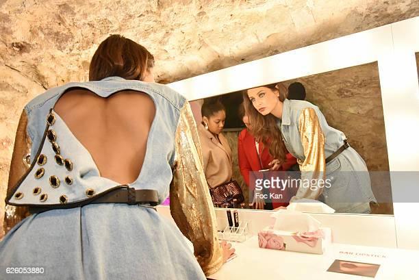 Miss France 2010 Malika Menard attends LA Girl Paris Cosmetics Launch and Fahaid Sanober 8TH Anniversary Cocktail at 32 rue Faubourg Saint Martin on...