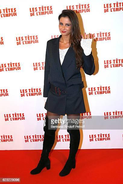Miss france 2010 Malika Menard attends 'Les Tetes de l''Emploi' Paris Premiere at Cinema Gaumont Opera Capucines on November 14 2016 in Paris France