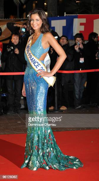 Miss France 2010 Malika Menard attends the NRJ Music Awards 2010 at Palais des Festivals on January 23 2010 in Cannes France