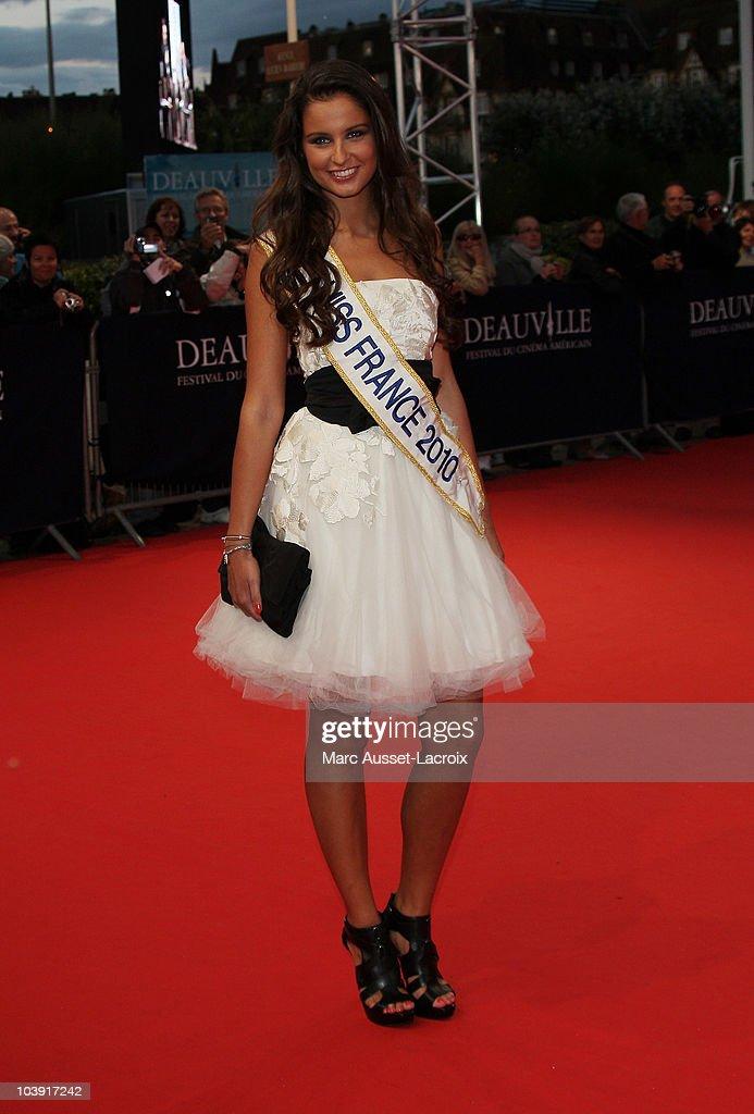 Miss France 2010, Malika Menard,poses for the'Love and Other Impossible Pursuits' Premiere during the 36th Deauville American Film Festival on September 8, 2010 in Deauville, France.