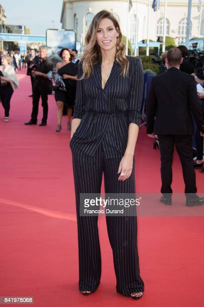 Miss France 2011 Laury Thilleman arrives for the screening of the film 'Good Time' during the 43rd Deauville American Film Festival on September 2...