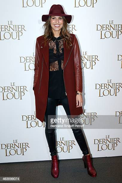 Miss France 2011 Laury Thilleman attends 'Le Dernier Loup' Paris Premiere Held at Cinema UGC Normandie on February 16 2015 in Paris France