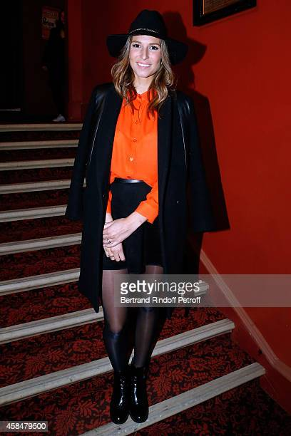 Miss France 2011 Laury Thilleman attends the 150th Representation of the 'Je prefere qu'on reste amis' Theater Play at Theatre Antoine on November 5...
