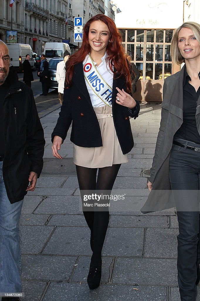 Miss France 2012 Delphine Wespiser Sighting in Paris - December 5, 2012