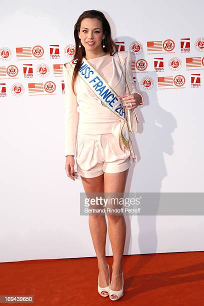 Miss France 2013 Marine Lorphelin attends Annual Photocall for Roland Garros Tennis Players at 'Residence De L'Ambassadeur Des EtatsUnis' on May 24...