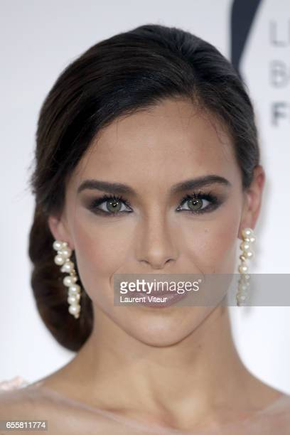 Miss France 2013 Marine Lorphelin attends 'Les Bonnes Fees' Charity Gala at Hotel D'Evreux on March 20 2017 in Paris France