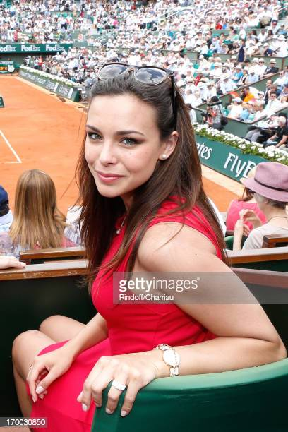 Miss France 2013 Marine Lorphelin attends Roland Garros Tennis French Open 2013 Day 12 on June 6 2013 in Paris France