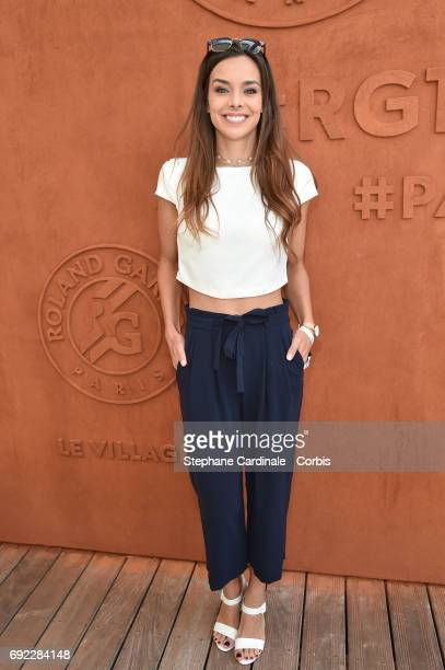 Miss France 2013 Marine Lorphelin attends the 2017 French Tennis Open Day Height at Roland Garros on June 4 2017 in Paris France