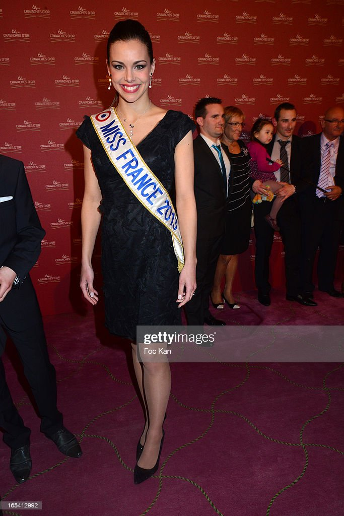 Miss France 2013 Marine Lorphelin attends the 'Cravaches D'Or' Awards 2013 At Theatre des Champs Elysees In Paris on April 3, 2013 in Paris, France.